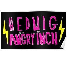 Hedwig and the Angry Inch (Pink Logo/Lightning Bolts) Poster