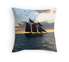 Backlit Boat Throw Pillow