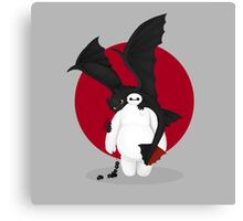 baymax and toothless Canvas Print