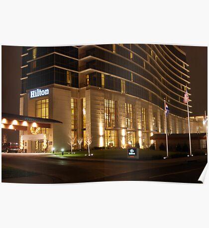 Branson Hilton at Night Poster