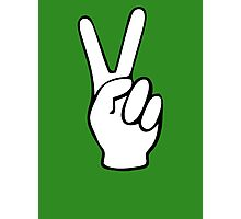 Hand Peace Sign Fingers Photographic Print