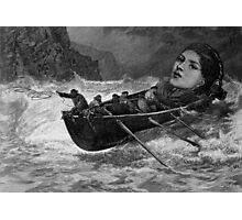 Rescued by Men. Photographic Print