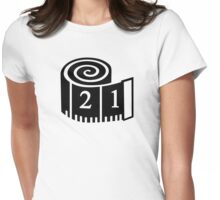 Measuring tape Womens Fitted T-Shirt