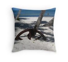 buried in sand Throw Pillow