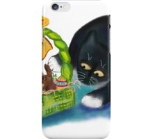 Kitten is Raiding the Easter Basket  iPhone Case/Skin