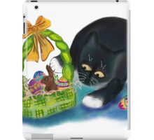 Kitten is Raiding the Easter Basket  iPad Case/Skin