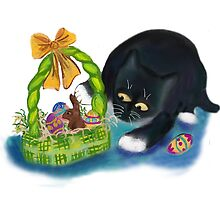 Kitten is Raiding the Easter Basket  by NineLivesStudio