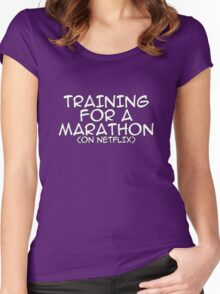 Training for a marathon (on netflix) Women's Fitted Scoop T-Shirt