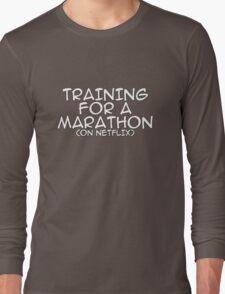 Training for a marathon (on netflix) Long Sleeve T-Shirt