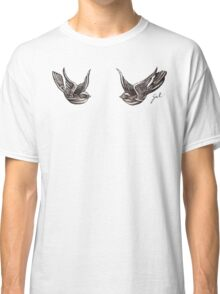 Love Birds Tattoo Top Classic T-Shirt