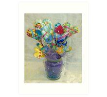 Bouquet of Hearts on Sticks Art Print