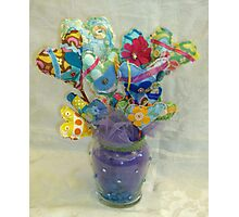 Bouquet of Hearts on Sticks Photographic Print
