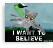 x-files cat Canvas Print