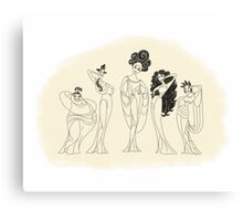The Muses Canvas Print