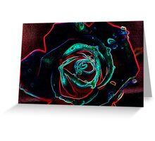 Rose in Glow Greeting Card