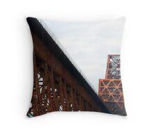 Mississippi River Bridge Throw Pillow