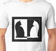 Duality - Black and White Cat Unisex T-Shirt