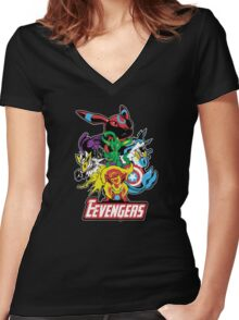 The Eevegers Women's Fitted V-Neck T-Shirt