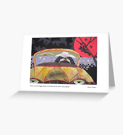 Jesus was the Jagged Shape in the Back of His Mind Greeting Card