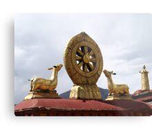 The Dharma Wheel Metal Print