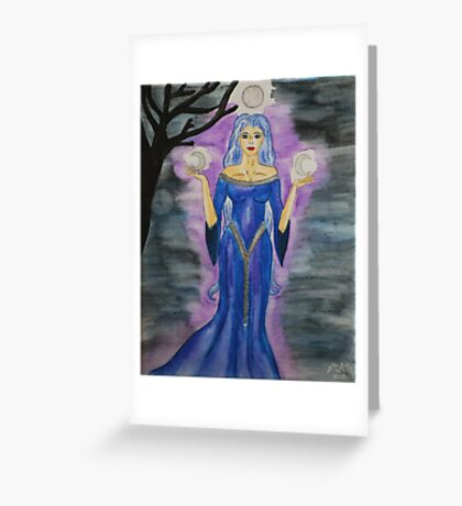 Triple Moon Goddess Greeting Card