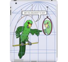 Parrot Cage Fight iPad Case/Skin
