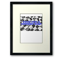 Time for a victory nap! Framed Print