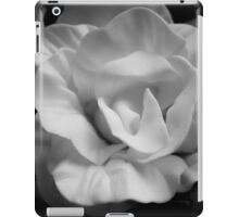 Yellow rose in black and white iPad Case/Skin