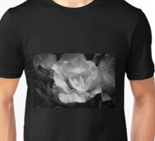 Yellow rose in black and white Unisex T-Shirt