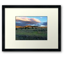 Evening Near Kamloops Framed Print