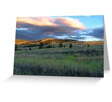 Evening Near Kamloops Greeting Card