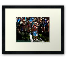 The King of Surf Framed Print