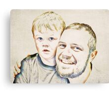 Dad and His Boy Canvas Print