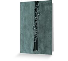 Oboe Charcoal Drawing Greeting Card