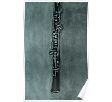 Oboe Charcoal Drawing Poster