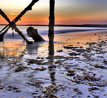 Sunrise under the pier - HDR by Gabriel Skoropada