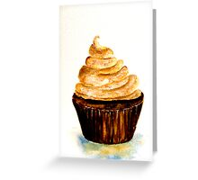 Delicious..Chocolate Cupcake with Mocha Swirl Greeting Card