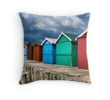 Beach Huts Series 23 Throw Pillow