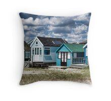 Beach Huts Series 24 Throw Pillow