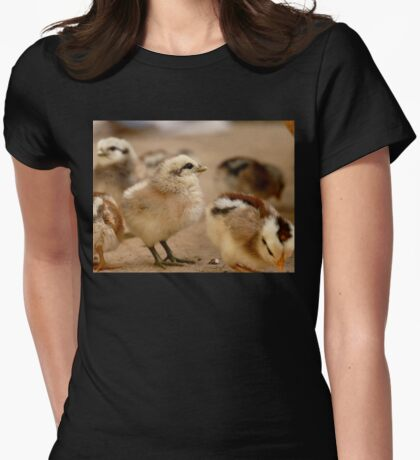 This Eyeliner is Great - Baby Chicks Womens Fitted T-Shirt