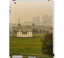 A Winter Afternoon at Greenwich - View of Queen's House and Canary Warf, England iPad Case/Skin