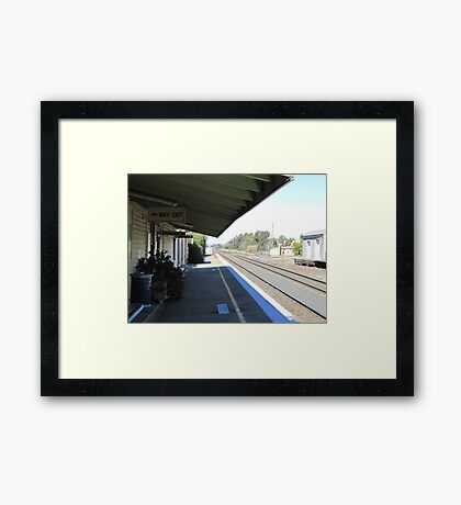 Once Upon a Time!, Old Rail Station, 'Henty', Country Town.  Framed Print
