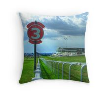 Epsom Racecourse - Home of the English Derby Throw Pillow