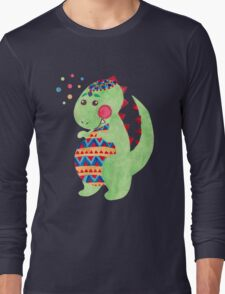 Green Dino Long Sleeve T-Shirt