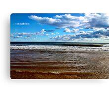 Blue Sky Beach Canvas Print