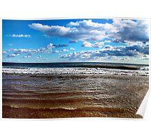 Blue Sky Beach Poster