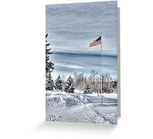 Flying proud in the freezing wind Greeting Card