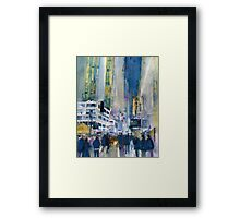 Midnight on Broadway Framed Print