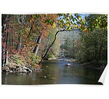 Oconoluftee River in Smoky Mountains Poster