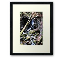 Waterfall HDR Framed Print